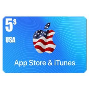 بطاقة أيتونز 5 دولار للستور الأمريكي