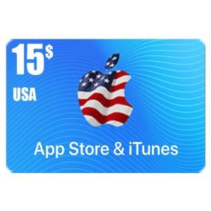 بطاقة أيتونز 15 دولار للستور الأمريكي