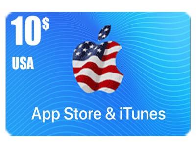 بطاقة أيتونز 10 دولار للستور الأمريكي