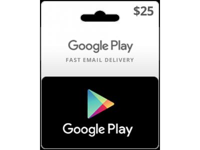 جوجل بلاي 25 دولار أمريكي