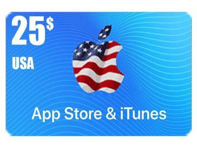 بطاقة أيتونز 25 دولار للستور الأمريكي