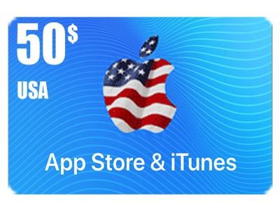 بطاقة أيتونز 50 دولار للستور الأمريكي