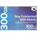 موبايلي بطاقة اعادة شحن بيانات الانترنت 300 جيجا لمدة ثلاثة شهور