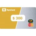 بطاقة ماستركارد افتراضية - 300 دولار