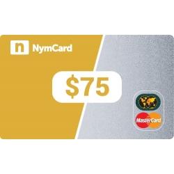 بطاقة ماستركارد افتراضية - 75 دولار