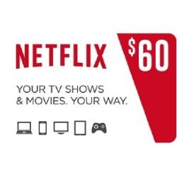 NetFlix للحساب الامريكي - 60 دولار