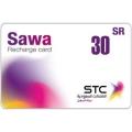 بطاقة شحن سوا - 30 ريال