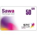 بطاقة شحن سوا - 50 ريال