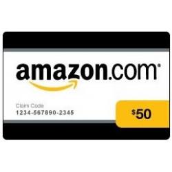 بطاقة شراء من موقع امازون بقيمة 50 دولار