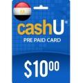 """بطاقة كاش يو """"مصر"""" - 10 دولار"""