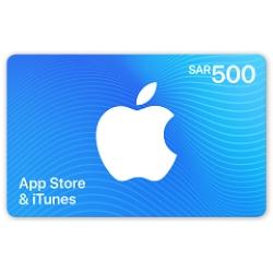 بطاقة اي تونز 500 ريال - الستور السعودي