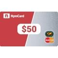 بطاقة ماستركارد افتراضية - 50 دولار