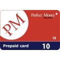 Perfect Money - بطاقة شحن 10 دولار