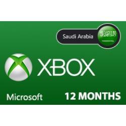 بطاقة مايكروسوفت إكس بوكس لايف -- 12 شهر (المتجر السعودي)