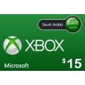 بطاقة مايكروسوفت إكس بوكس لايف -- 15 دولار (المتجر السعودي)