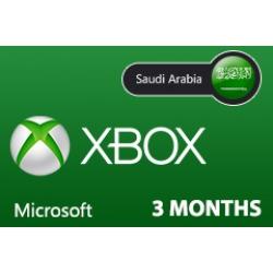 بطاقة مايكروسوفت إكس بوكس لايف -- 3 أشهر (المتجر السعودي)